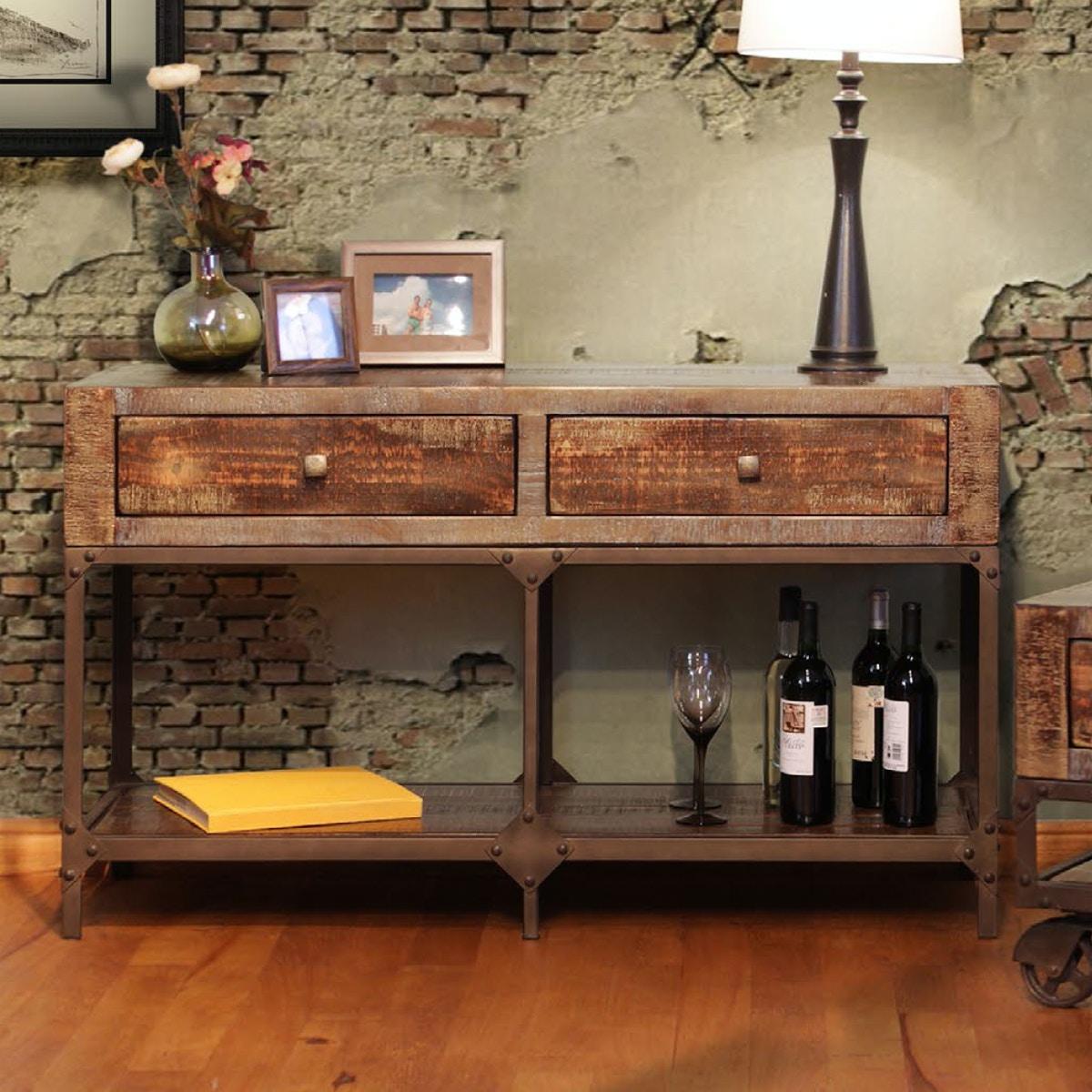 International Furniture Direct Urban Gold Sofa Table 510130