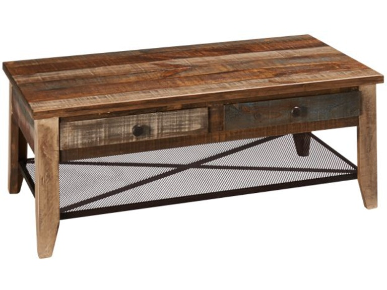 International Furniture Direct Reclaimed Wood Cocktail Table 366828