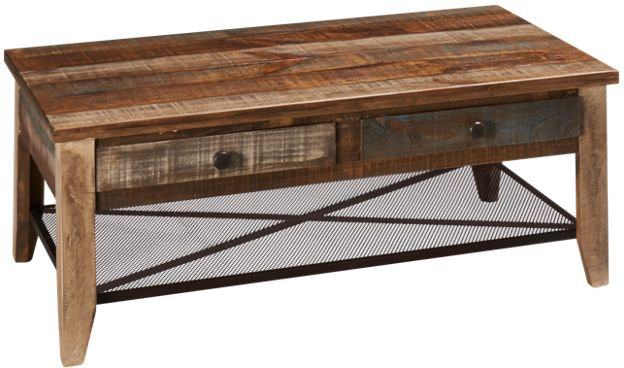 International Furniture Direct Reclaimed Wood Cocktail Table
