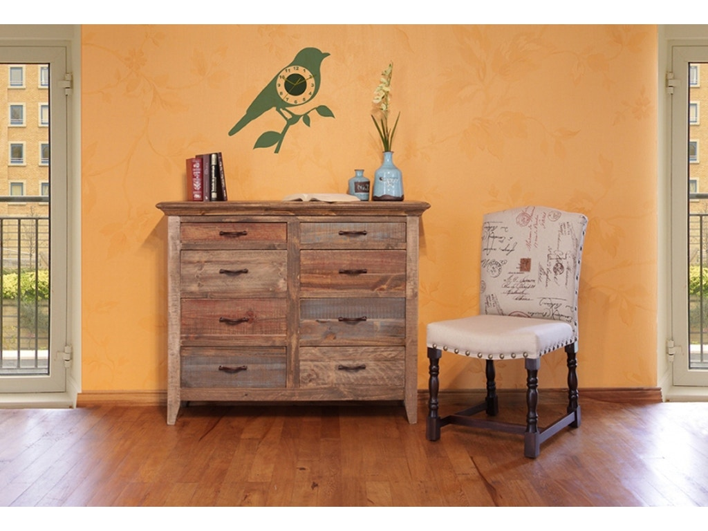 International Furniture Direct Antique Multicolored Chest 406798