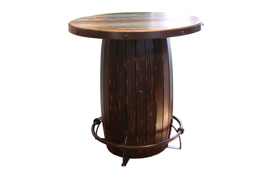 International Furniture Direct Bistro Table With Barrel