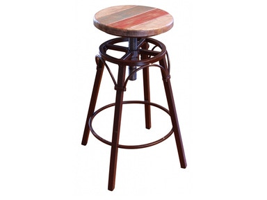International Furniture Direct Antique Adjustable Stool 510118