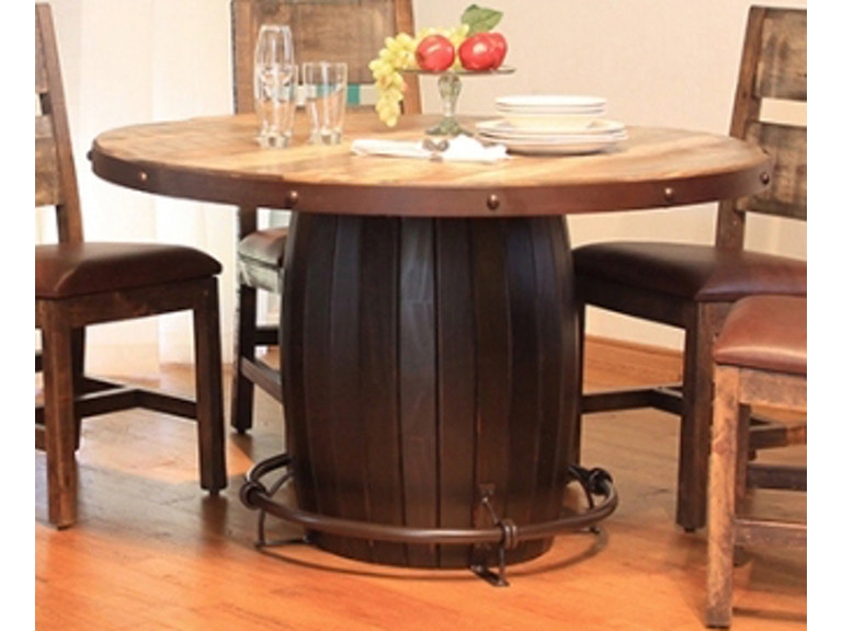 International Furniture Direct Antique Round Dining Table 510110 ...