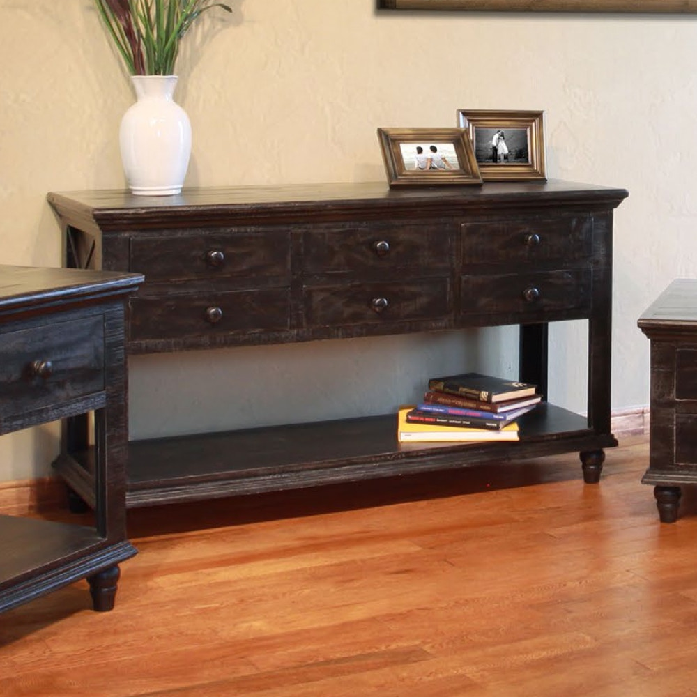 International Furniture Direct 70 Vintage Console Table 532399