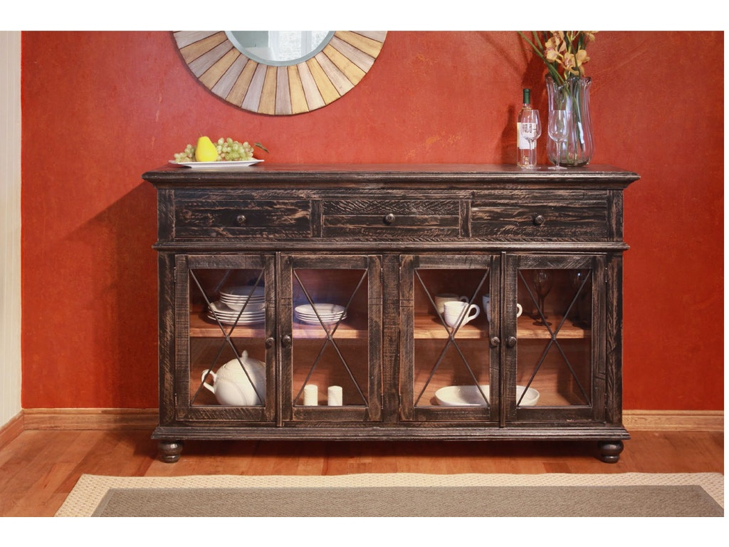 International Furniture Direct 70quot Vintage Console Table 532399