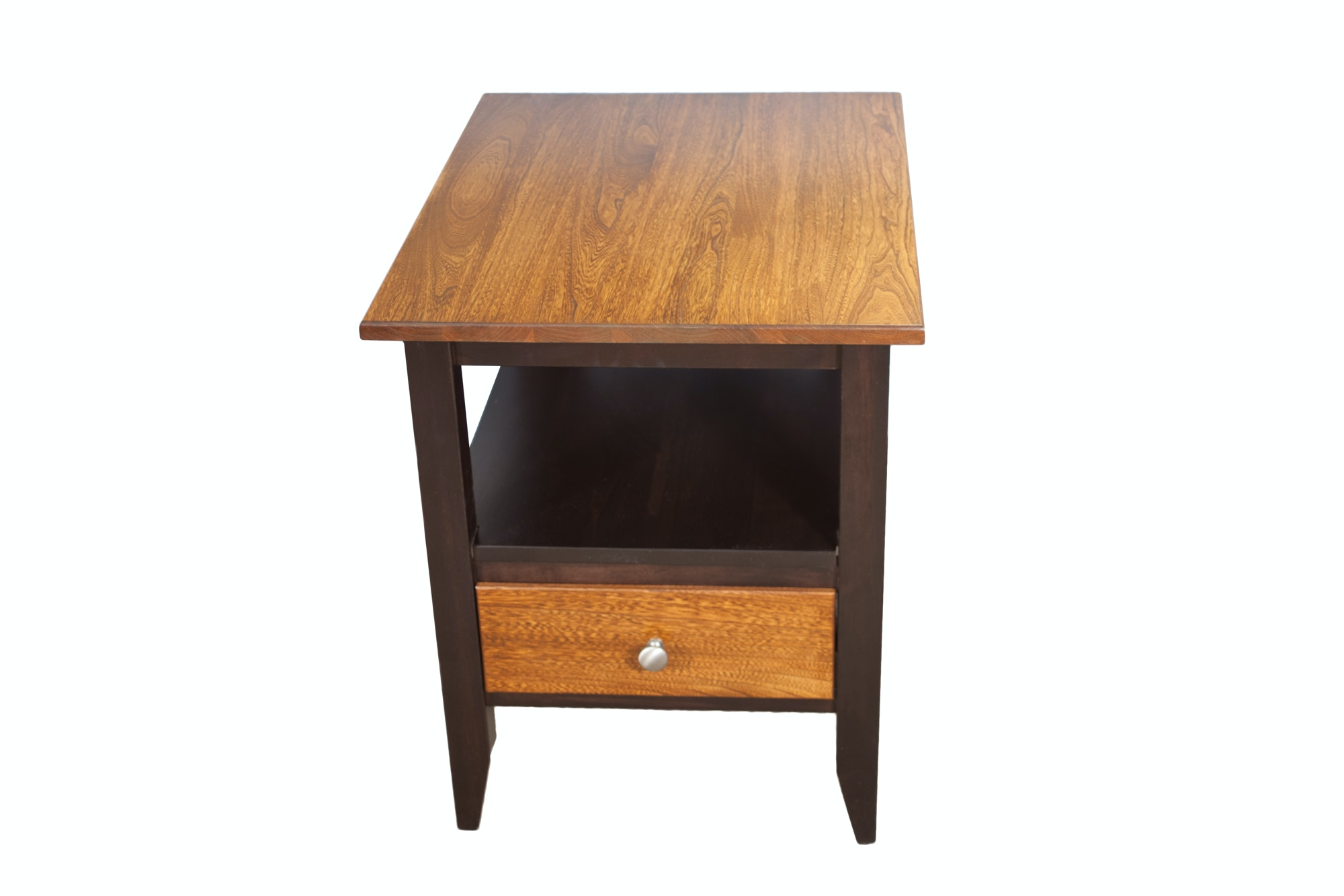 Tall end tables whitewood portman tall end table dark for Tall black end table