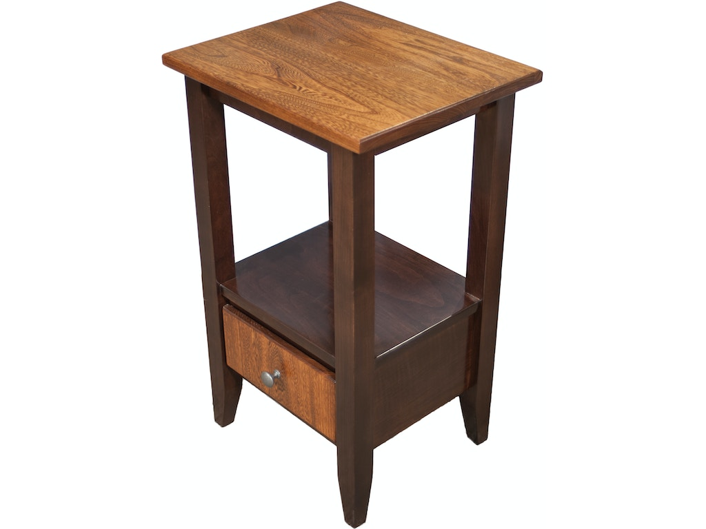 Amish works amish tall end table 281587 talsma furniture for Tall side tables living room