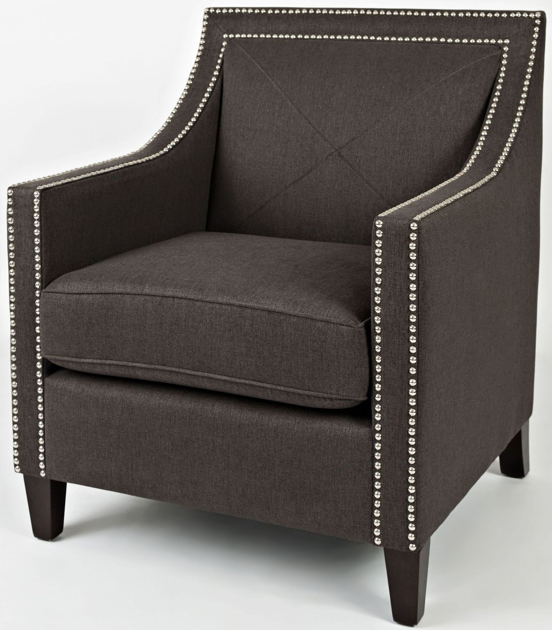 Luca Charcoal Accent Chair