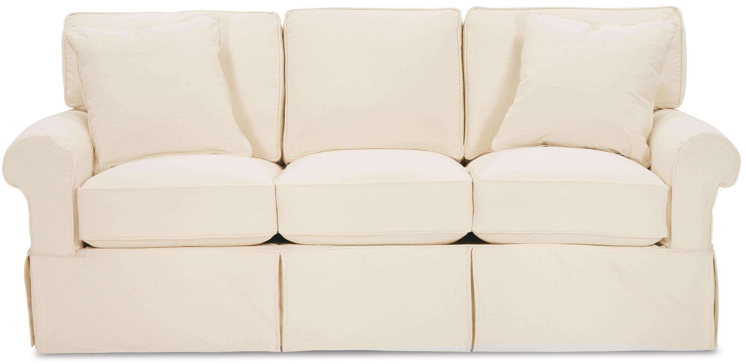 Charmant Rowe Nantucket Slip Cover Sofa With Pillows 442072