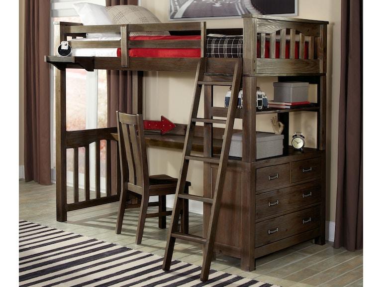 NE Kids Highlands Twin Loft Bed 546403