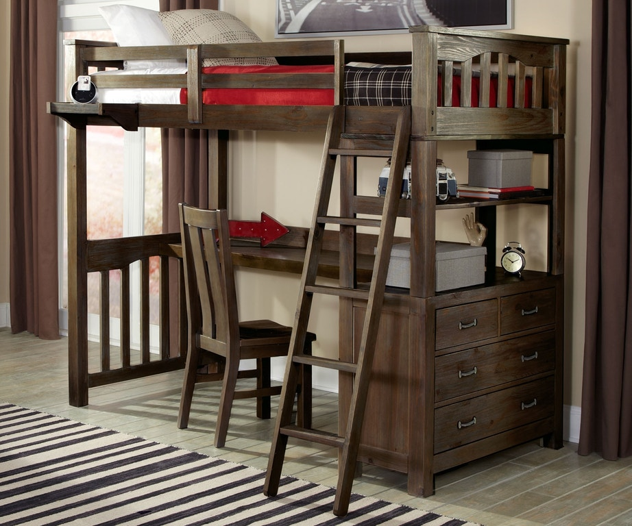 Twin Loft Bed With Desk P948420