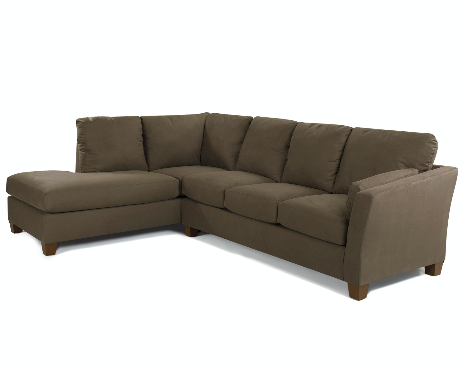 Simple Elegance Drew Microfiber Sectional P18880