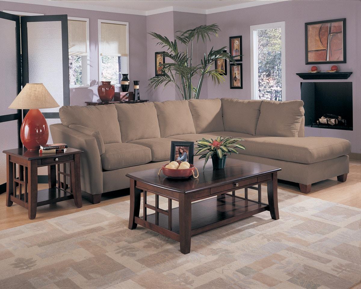 Simple Elegance Drew Microfiber Sectional P18860 : microfiber sectional - Sectionals, Sofas & Couches
