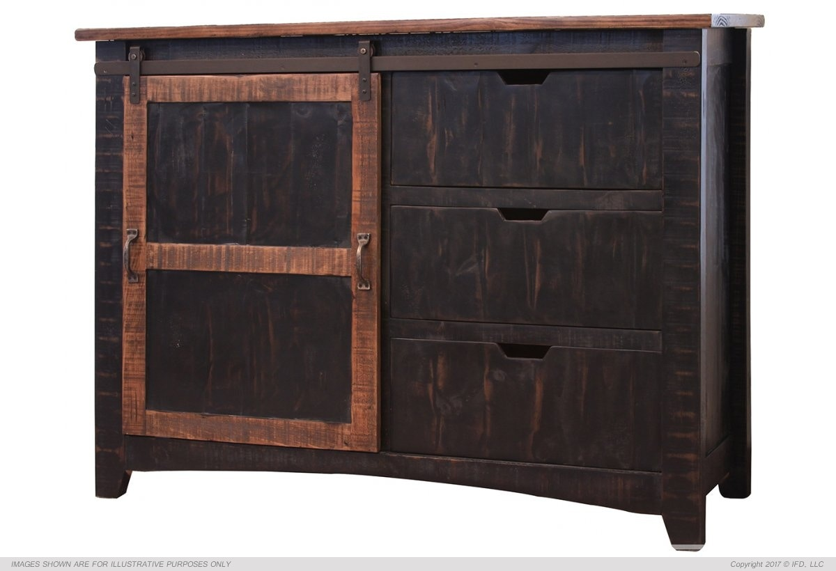 International Furniture Direct Living Room Sliding Door Chest 773530 At Talsma  Furniture