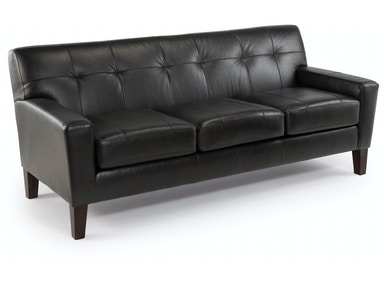 Best Home Furnishings Tufted Leather/ Match Sofa 309851