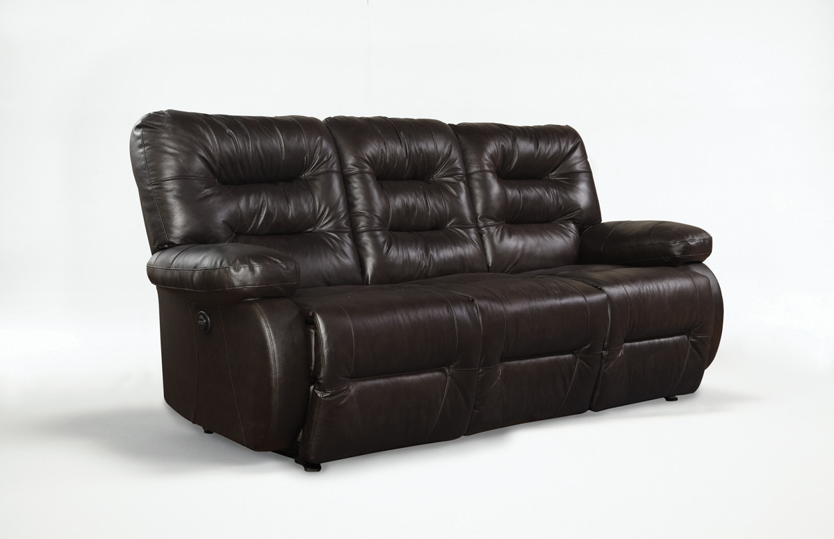 Best Home Furnishings Power Reclining Sofa Leather Seating 220743