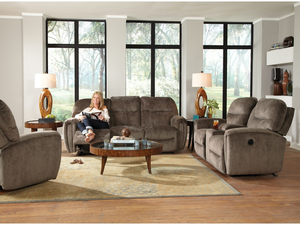 Home Furnishings Best Home Furnishings Markson Reclining Loveseat With Console