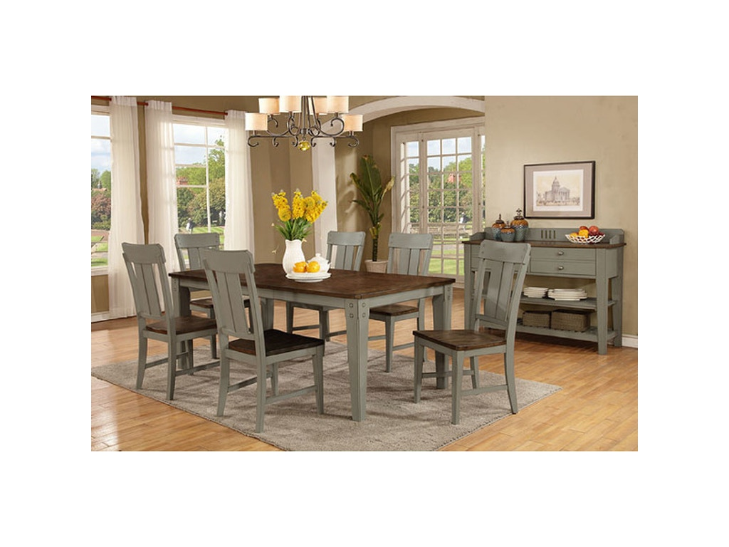 Avalon Dining Table W  Chairs Set  Talsma Furniture - Shaker dining room chairs