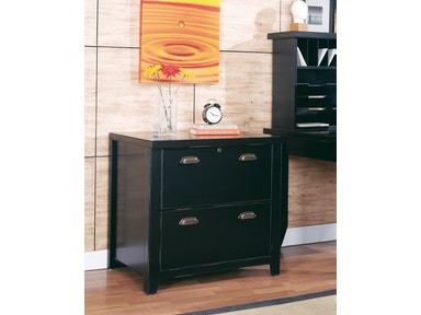 Martin Home Furnishings Tribeca Loft 2 Drawer Lateral File Wood Storage Cabinet in Black 27406
