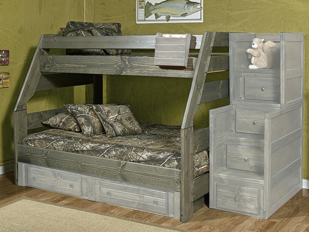 trendwood high sierra twin over full bunk bed