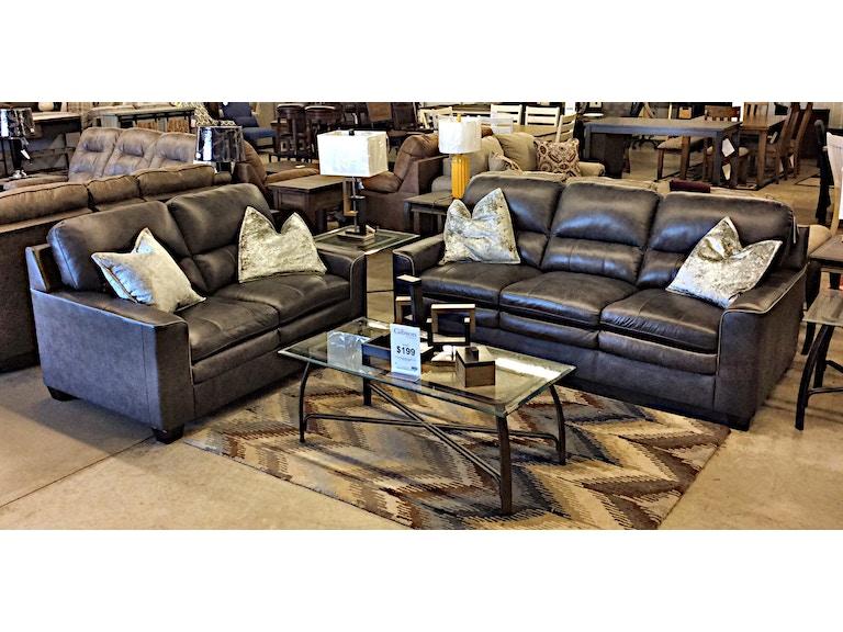 Ashley Leather Sofa Loveseat 1570
