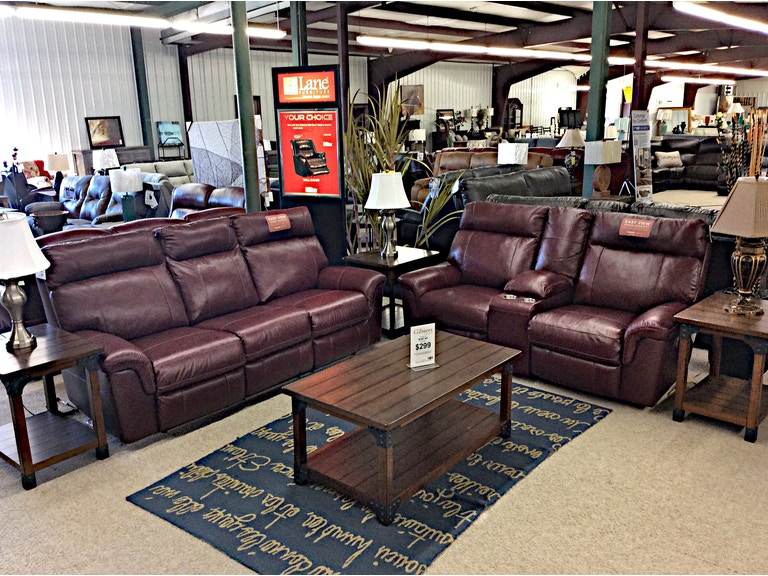 Ashley Leather Power Reclining Sofa and Loveseat with
