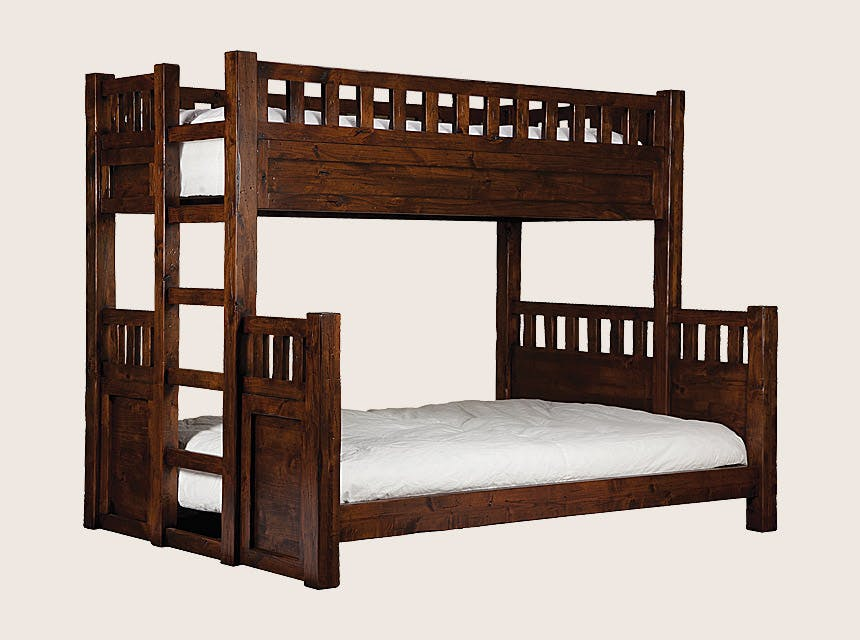Picture of: Bch Bedroom Twin Over Full Bunk Bed W Built In Ladder Bbed Wtch Bl Tw Fl Mountain Comfort