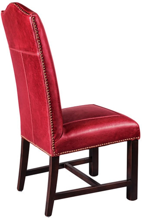 Ccg Red Leather Dining Chair At521 Rb