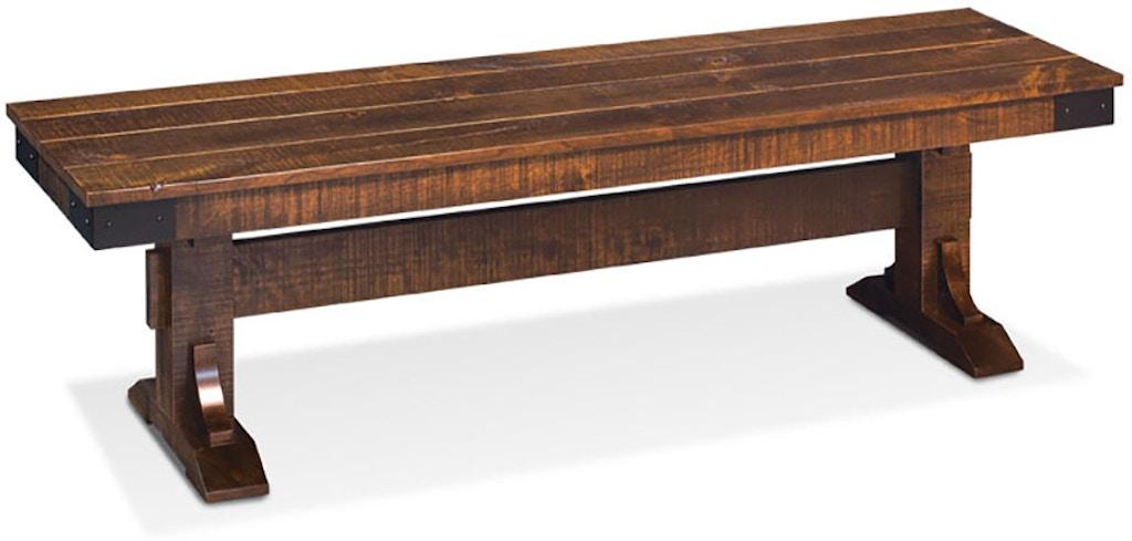 Marvelous Sam Living Room Montauk Trestle Dining Bench Ecmok 13B W Ncnpc Chair Design For Home Ncnpcorg
