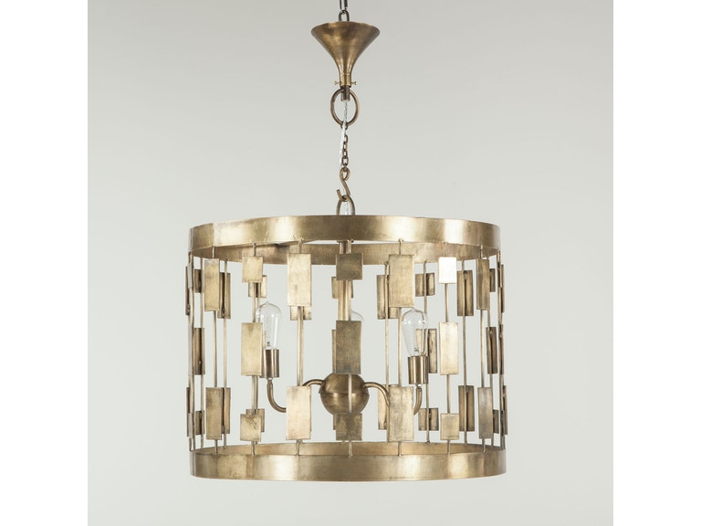 Dining Room HIGHLIGHT CEILING LAMP IRON ROUND THREE LIGHT At Mountain Comfort Furnishings