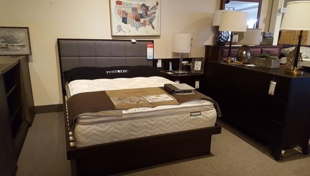 West Bros 4 piece bedroom set including complete bed, dresser, mirror, and  a nightstand
