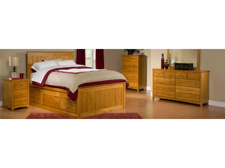 Archbold Living Room Shaker Bedroom Solid Wood American Made Amish