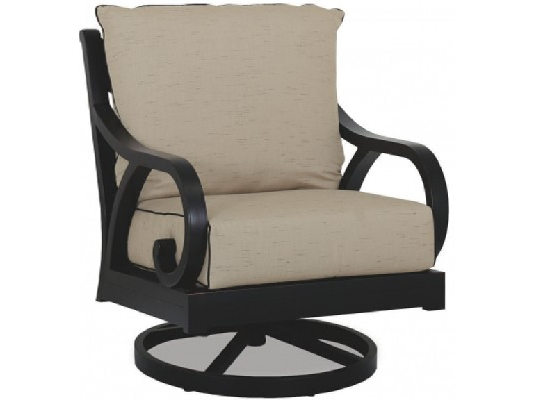 Sunset West Outdoor Patio Swivel Rocker Club Chair Old World Bronze Finish Over Cast And Aluminum Extrusions 3001 21sr At Eastern Furniture