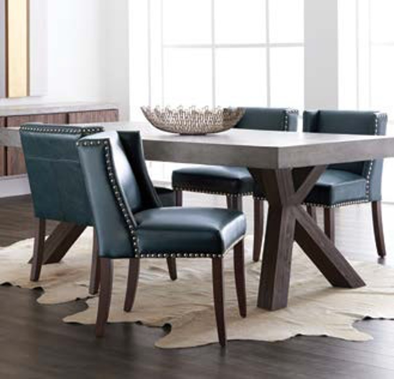 A Contrasting Thick Base Made From Acacia Wood With Light Espresso Finish Provides The Perfect Balance Of Materials Warwick Dining Table 100509 Sunpan