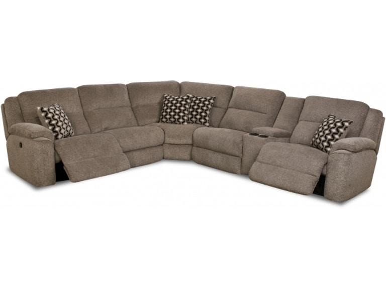 HomeStretch Living Room 162 Power Reclining Sectional 162 Sectional ...