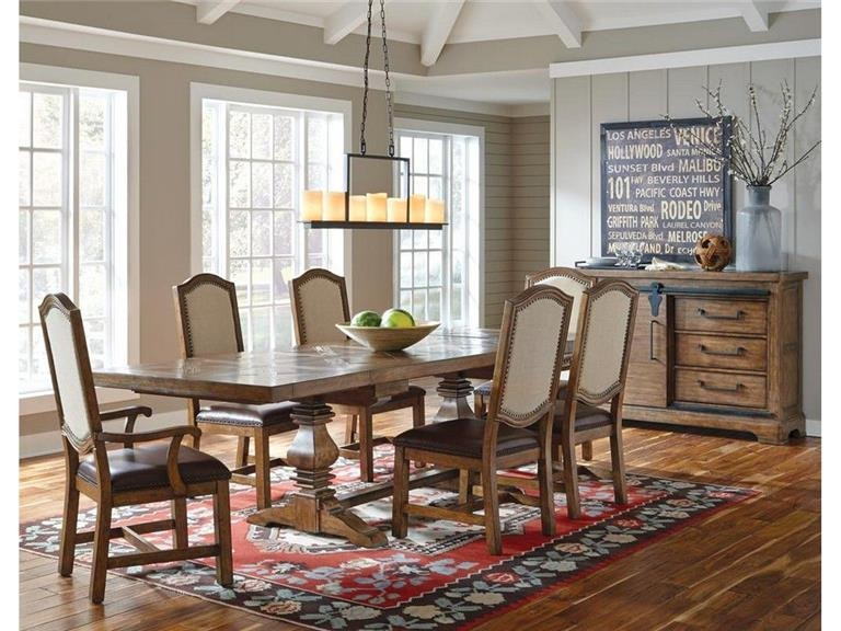 Samuel Lawrence Dining Room Includes Table Top And Counter Height Base  8854 136A COMPLETE TABLE At Carol House Furniture
