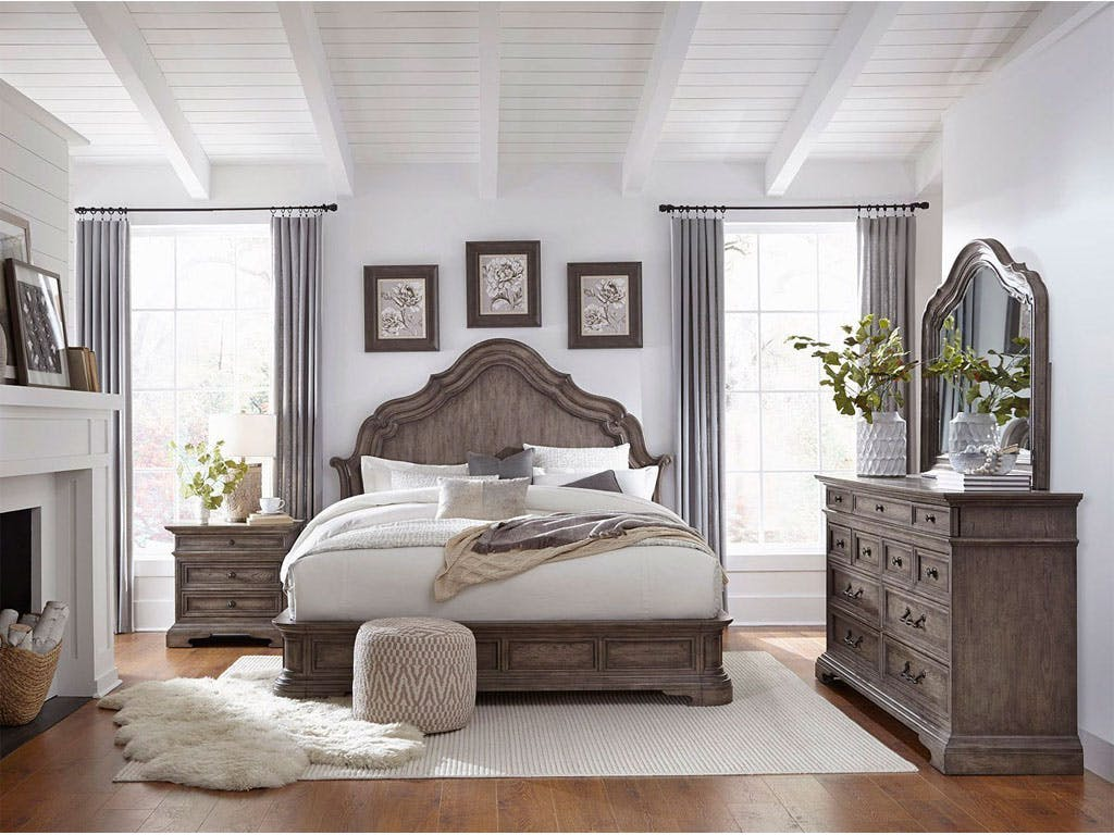 Image of: Pulaski Furniture 5pc Kn Bedroom Set P115160 5pc Bedroom Carol House Furniture Maryland