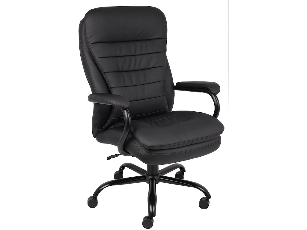 Boss Home Office Black Exec Chair- Rated To 350lbs- Big