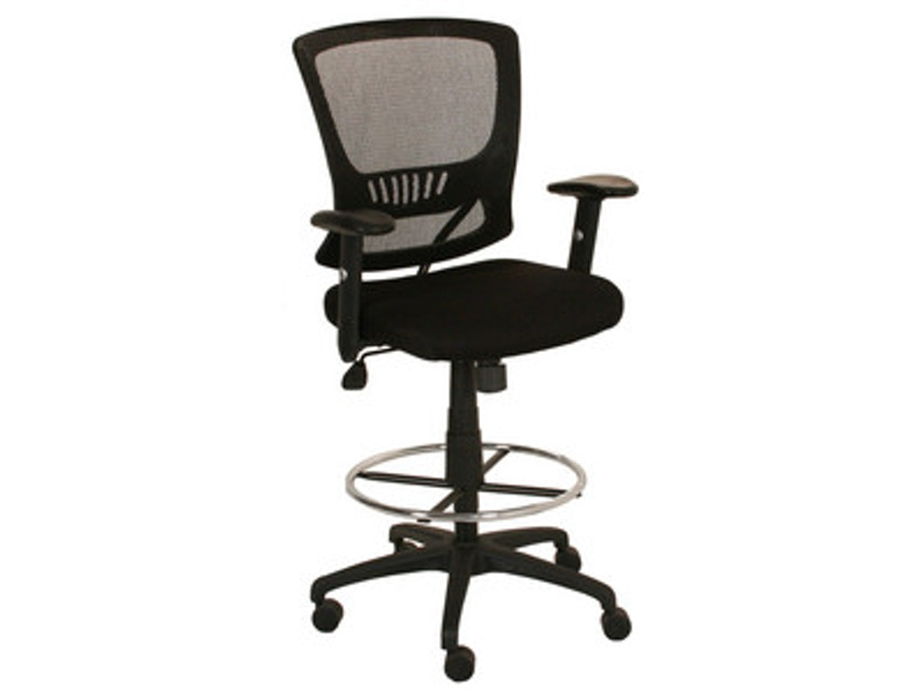 Dsa Home Office Blk Adj Counter Chair W Stool Kit Kb 8920