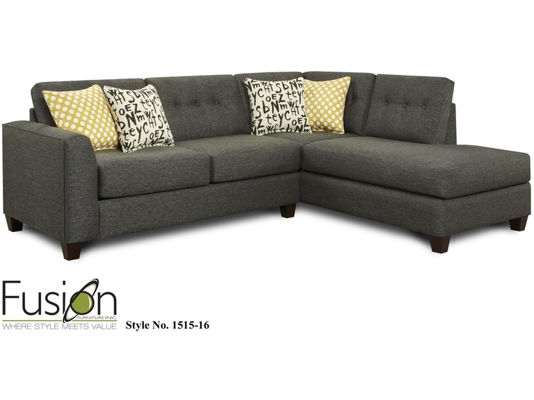 Fusion Living Room 2 Piece Sectional