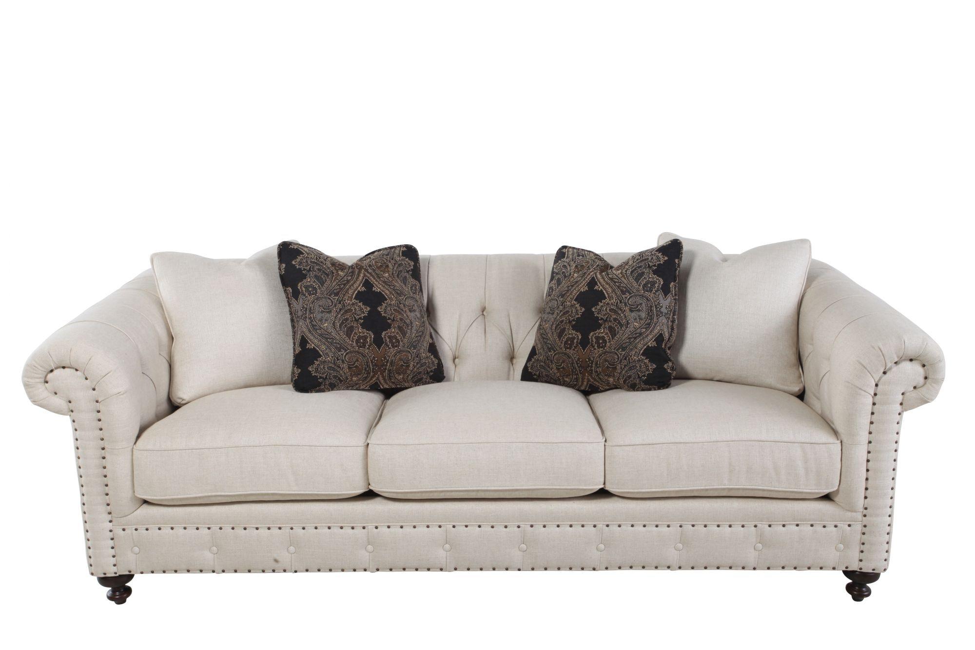 Bernhardt Riviera Tufted Back Sofa  92 B8277A FEATURE BEIGE