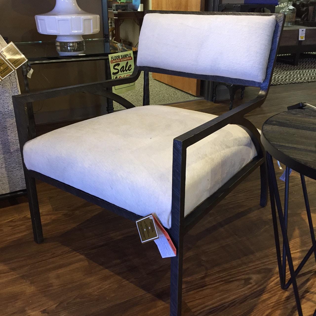 Bernhardt Living Room Cohen Chair  Metal Frame N1703L FEATURE HAIR At  Charter Furniture