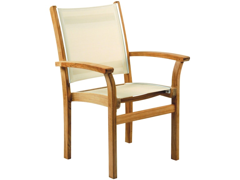 Kingsley Bate Outdoor Patio Dining Armchair Stacking