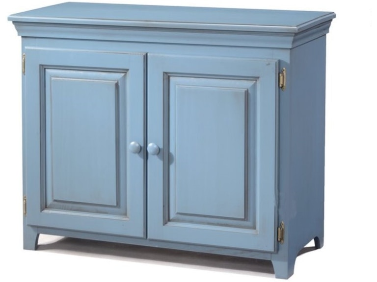Archbold Dining Room Solid Pine Wood 2 Door Low Cabinet With Doors In Glazed Blue Finish Arc573 At Woodworks Home Furnishings Scroll Down Page For More