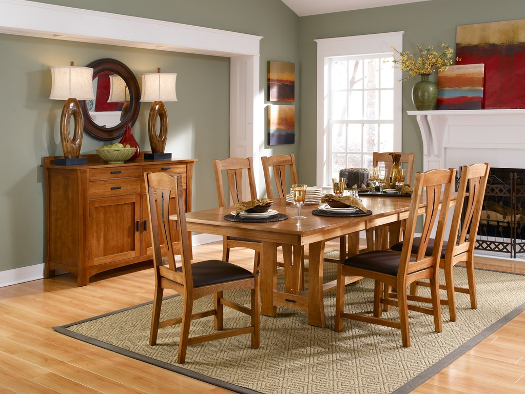A America Dining Room 7 Piece Dining Set , Solid Hickory wood CATAM6300-S