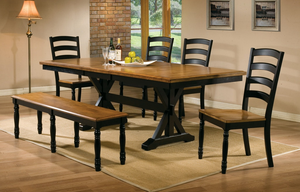 Winners Only 6 Piece Dining Set Solid Wood Dq14284w S