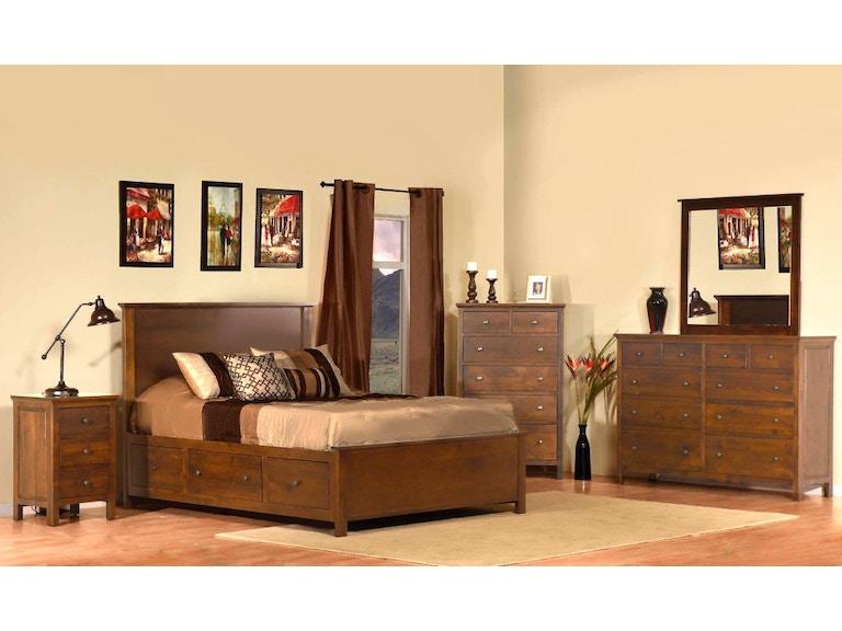 Archbold Bedroom Heritage Queen Storage Bed Solid Wood Arc62198 Bed