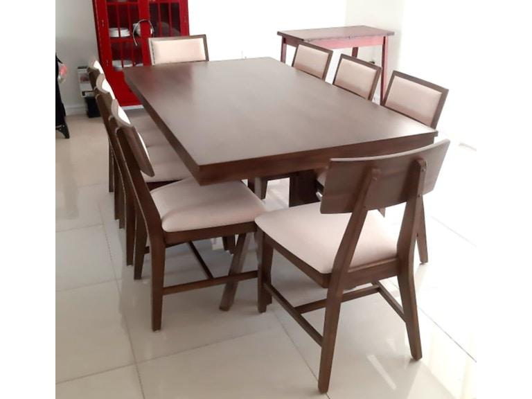 7 PCS. Luxe Mid century modern dining Set