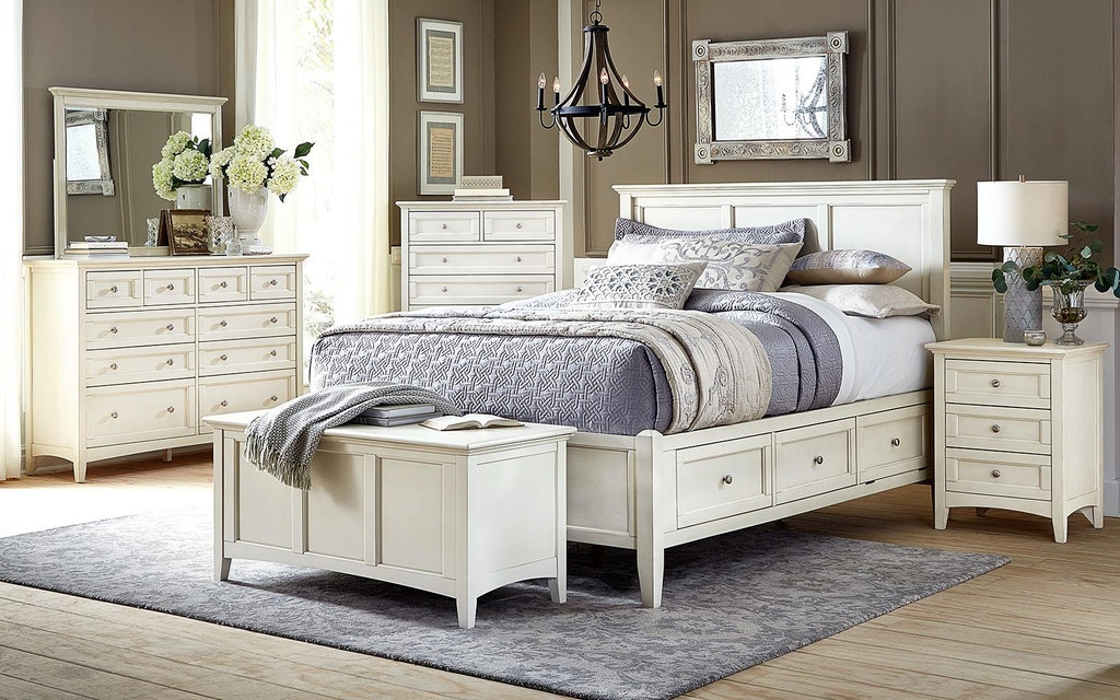 6 Piece Queen Bedroom Set, Solid Wood