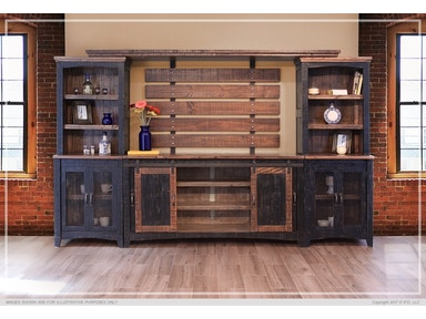 f90a0f8939 International Furniture Direct Pueblo 5 Piece Wall Unit,Rustic IFD370-WU